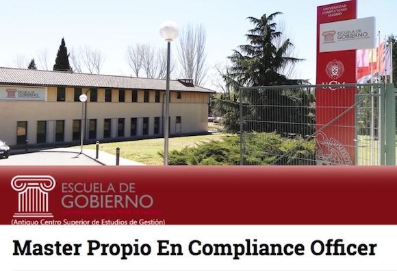 Master en Compliance Officer - Título propio de la Universidad Complutense