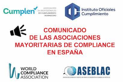 Comunicado sobre la situación de los peritos de Compliance