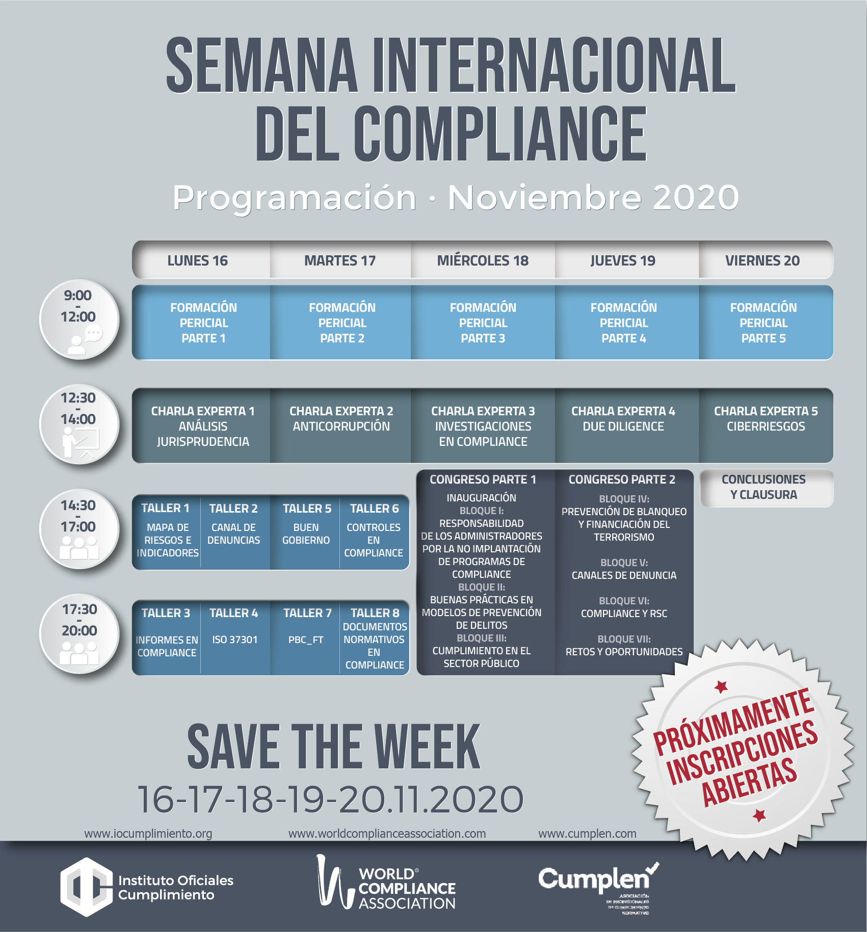 Programación I Semana Internacional de Compliance - noviembre 2020