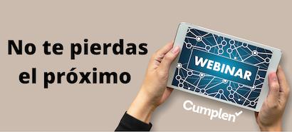 Webinar Cumplen - 22 de abril - 17:00 - Protección de datos y aportación de prueba de vídeo y audio en juicio y fuera de él.