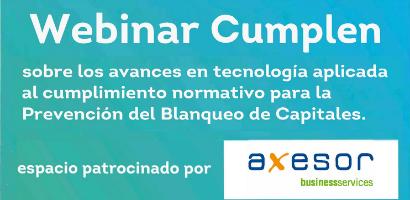 Webinar Cumplen 16 de julio: Avances en tecnología aplicada al cumplimiento normativo para la Prevención del Blanqueo de Capitales