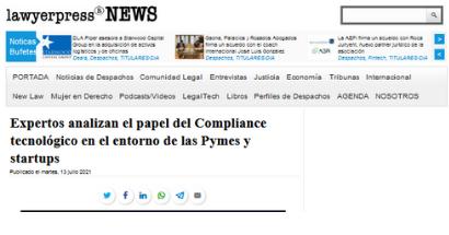 Expertos analizan el papel del Compliance tecnológico en el entorno de las Pymes y startups. FUENTE: lawyerpress.com