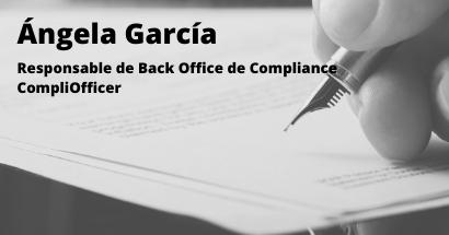 La recuperación del sector inmobiliario de la mano del Compliance. Ángela García. Socia Cumplen