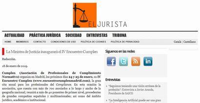 La Ministra de Justicia inaugurará el IV Encuentro Cumplen. Información publicada en El Jurista