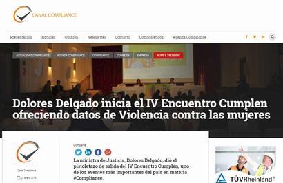 Dolores Delgado inicia el IV Encuentro Cumplen ofreciendo datos de Violencia contra las mujeres. Información publicada en Canal Compliance