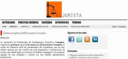 Mañana empieza el III Encuentro Cumplen. Información publicada en El Jurista