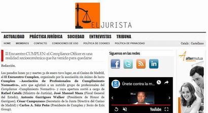 II Encuentro Cumplen: el Compliance Officer es una realidad socioeconómica que ha venido para quedarse. Información publicada en El Jurista
