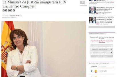 La Ministra de Justicia inaugurará el IV Encuentro Cumplen. Información publicada en Law&Trends