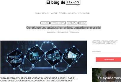 Compliance: una auténtica herramienta de gestión empresarial. Entrevista a Miquel Fortuny publicada en el Blog Lex Go