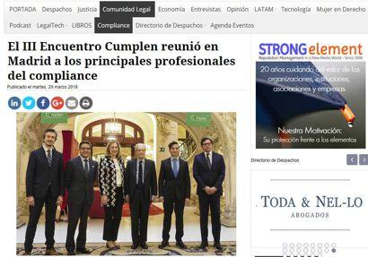 El III Encuentro Cumplen reunió en Madrid a los principales profesionales del compliance. Información publicada en Lawyerpress