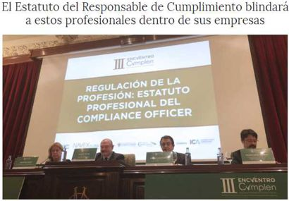 El Estatuto del Responsable de Cumplimiento blindará a estos profesionales dentro de sus empresas. Información publicada en Confilegal