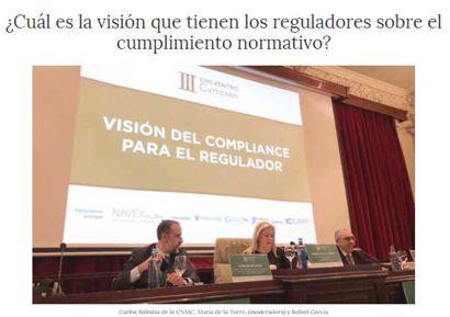 ¿Cuál es la visión que tienen los reguladores sobre el cumplimiento normativo? Información publicada en Confilegal