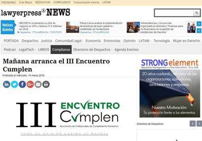 Mañana arranca el III Encuentro Cumplen. Información publicada en Lawyerpress