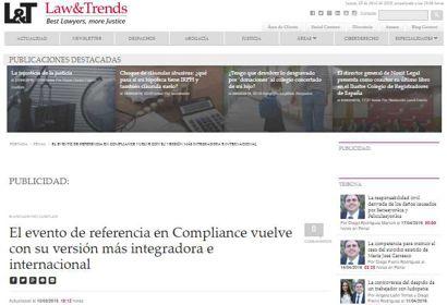 El evento de referencia en Compliance vuelve con su versión más integradora e internacional. Información publicada en Law&Trends