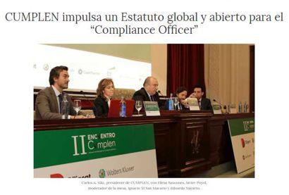 """Cumplen impulsa un Estatuto global y abierto para el """"Compliance Officer"""". Información publicada en confilegal"""