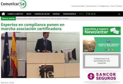 Expertos en compliance ponen en marcha asociación certificadora. Información publicada en ComunicarSe