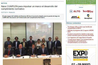 Nace Cumplen para impulsar un marco el desarrollo del cumplimiento normativo. Información publicada en Seguritecnia.es
