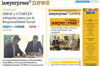 Aenor y Cumplen impulsarán el Compliance. Información publicada en lawyerpress