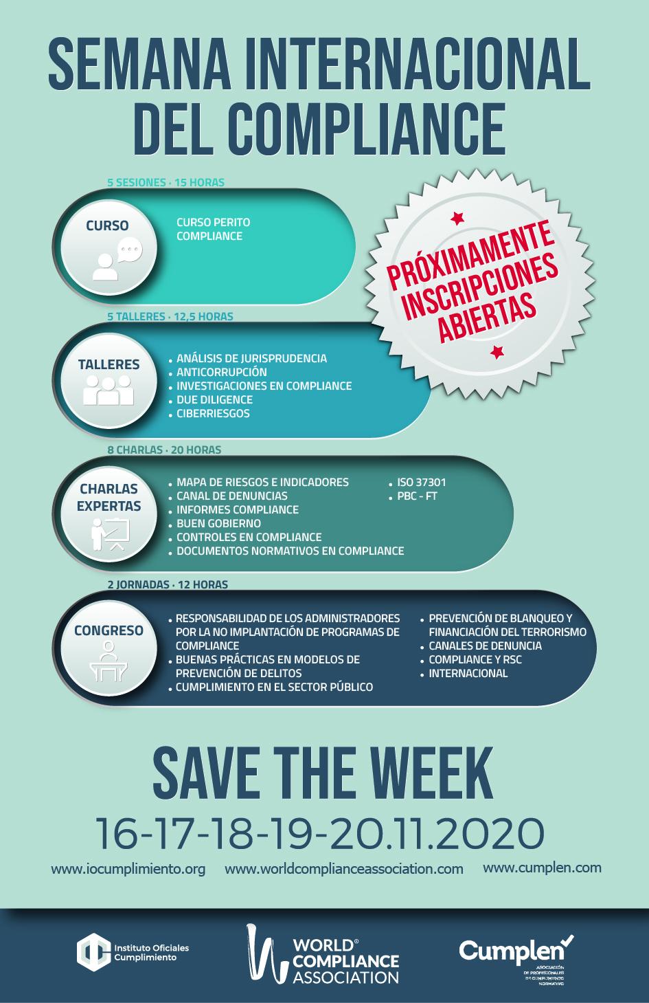 SEMANA INTERNACIONAL DEL COMPLIANCE 16-17-18-1-20 nov 2020