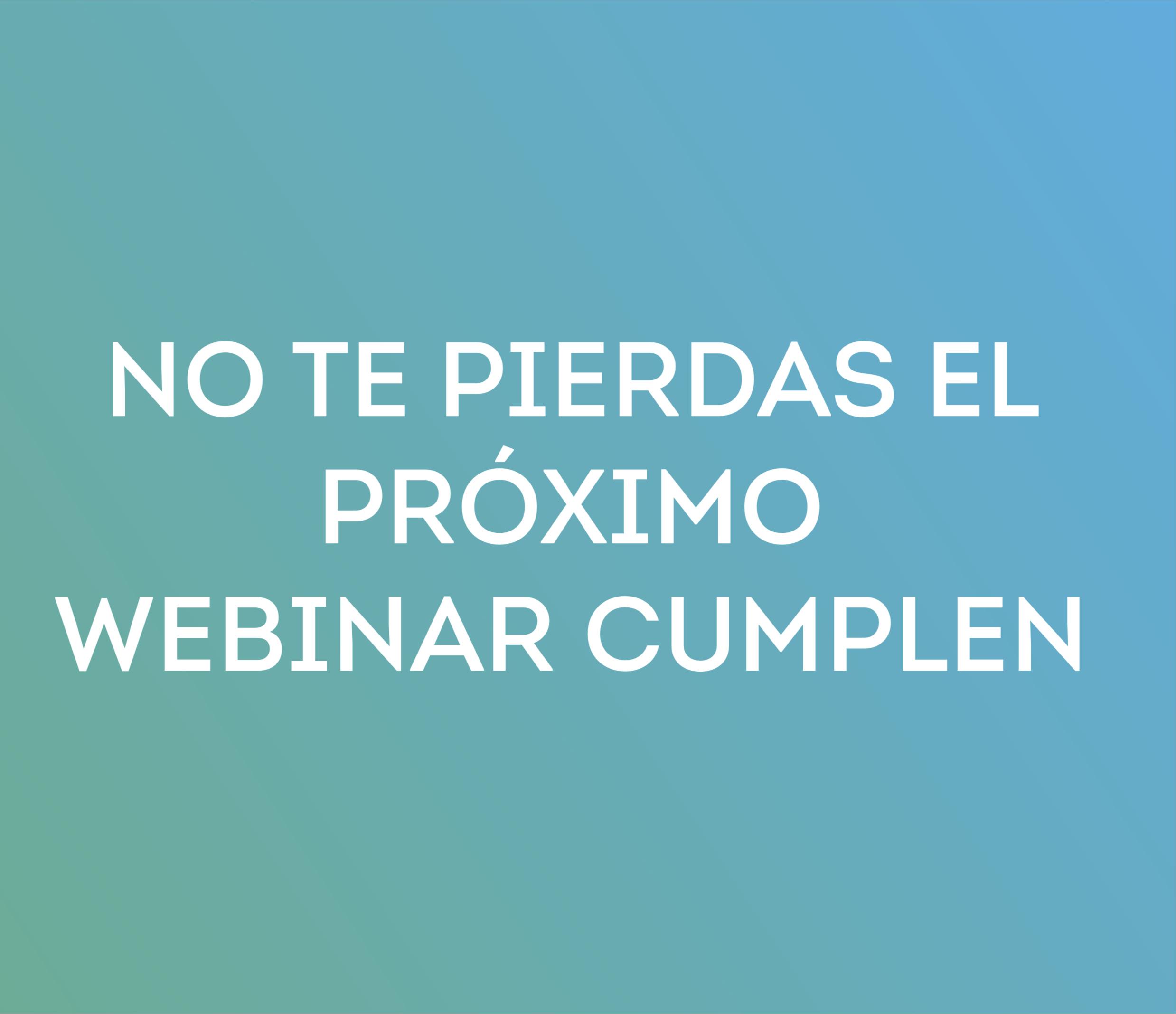 Webinar Cumplen 22-10 /17:00: Third Party: Cómo lograr su implicación en nuestro programa de Compliance
