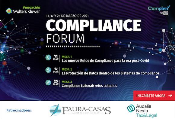 1er Compliance Forum de la Fundación Wolters Kluwer