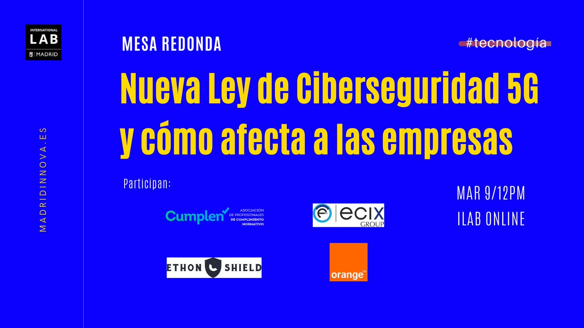 Disponible la grabación del Webinar sobre Ciberseguridad 5G
